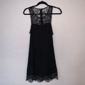 Black Lace Party Homecoming Dress